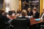 Konstruktives deutsch-ungarisches Miteinander: CDU/CSU-Delegation am vergangenen Montag im Gespräch mit Staatssekretär János Fónagy.