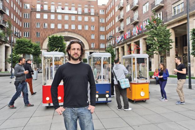 Und wer hat's erfunden? Ádám Lendvai hat sich bereits mit anderen Start-up-Projekten einen Namen gemacht. Mit Budapest Bakering startet der Medienkünstler nun auch im Gastronomiebereich durch. (BZT-Fotos: Nóra Halász)