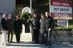 Aktion der Partei Süd-Tiroler Freiheit am Brenner