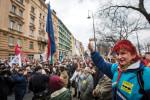 Az Együtt demonstrációja Budapesten
