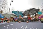 """""""Wäre es in einer Demokratie nicht die Aufgabe des Ministerpräsidenten, sich endlich mit den Forderungen der Protestierenden zu beschäftigen statt sie auszulachen?"""" (BZT-Fotos: Nóra Halász)"""
